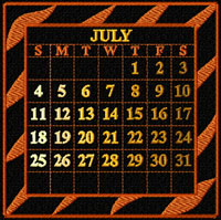 Calendar 2010 Quilt Blocks Machine Embroidery Designs