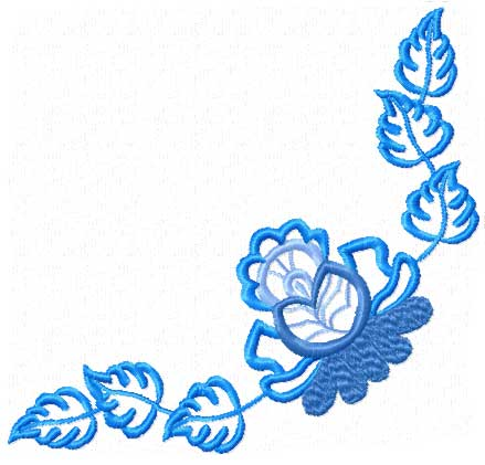 Click Here To See Real Size Small Corner Ornament Machine Embroidery Design