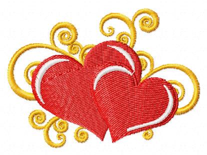 Hearts applique