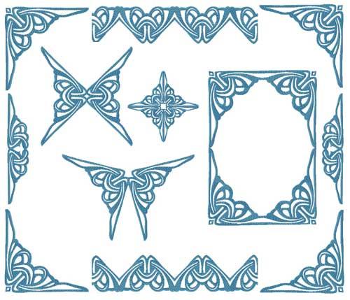Tatoo Gothic Ornaments Machine Embroidery Designs set