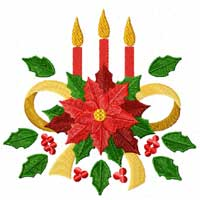 Christmas Motifs: Poinsettia Machine Embroidery Designs set
