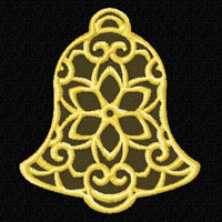 Lacy Bells 12 Machine Embroidery Designs set 4x4