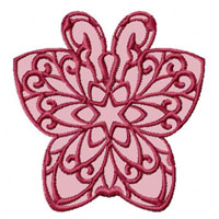 Lacy Butterflies 12 Machine Embroidery Designs for 4x4 hoop