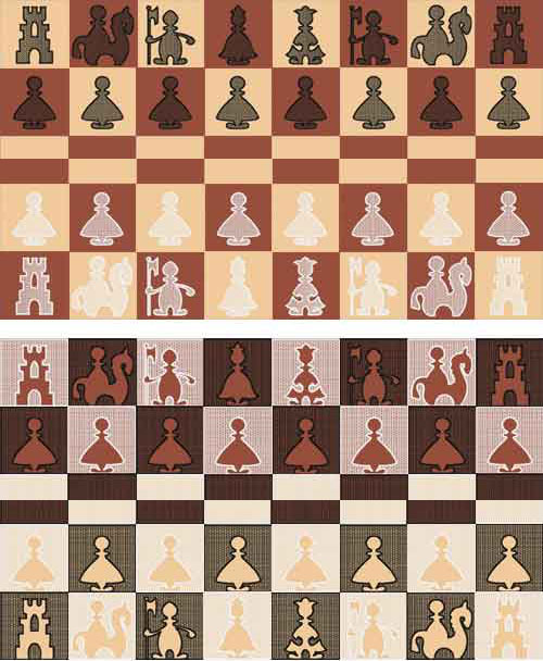 Chess: 6 Machine Embroidery Designs + 6 Quilt Blocks set 4x4