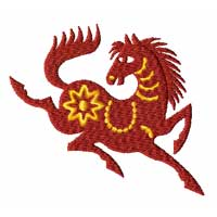 Chinesse Zodiac Machine Embroidery Design: Horse