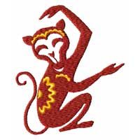 Chinesse Zodiac Machine Embroidery Design: Monkey
