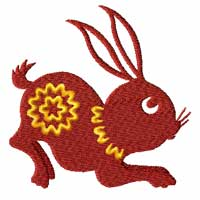 Chinesse Zodiac Machine Embroidery Design: Rabbit