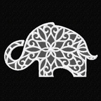 Lacy Elephant  Machine Embroidery Designs