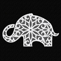 Lacy Elephants 12 Machine Embroidery Designs