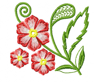 4 Hobby Machine Embroidery Designs Flowers Fantasy