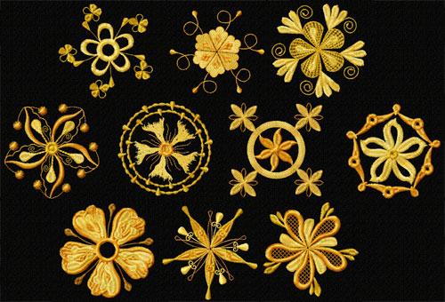 Fantasy Flowers Machine Embroidery Designs 4x4