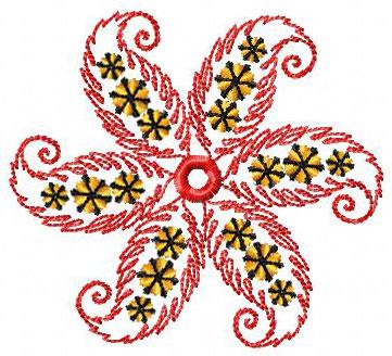 رشمات التطريز الرقمي Flower-7