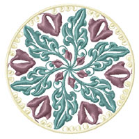 Elegant Flowers Ornaments 8 Machine Embroidery Designs Set 5x7