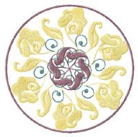 Elegant Flowers Ornaments 8 Machine Embroidery Designs Set 5x7