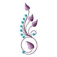 Elegant Flowers Ornaments 11 Machine Embroidery Designs Set 5x7