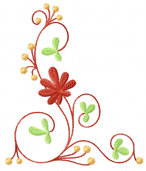 Flowers ornaments machine embroidery designs ebay