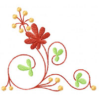 Elegant Flowers Ornaments 10 Machine Embroidery Designs Set 5x7