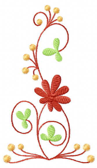 4 Hobby Machine Embroidery Designs Flowers Elegant