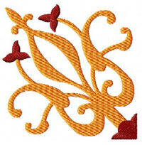 Tile Machine Embroidery Design