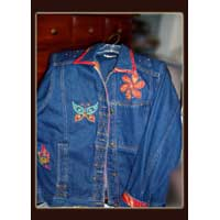 Jean jacket with Fairy Butterflies