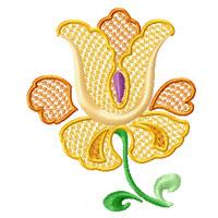 Garden #3: 8 Flowers Machine Embroidery Designs set 5x7