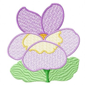 Garden 3 flowers 8 machine embroidery designs set for Garden embroidery designs