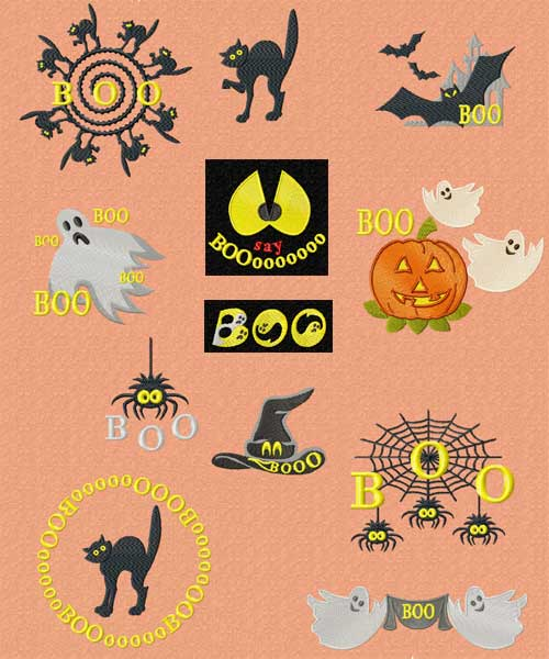Halloween Machine Embroidery Designs