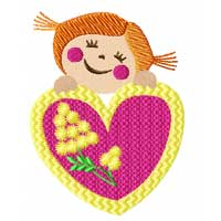 Valentines: Hearts Machine Embroidery Designs set + Applique set