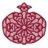 Lacy Pomegranates 12 Machine Embroidery Designs set 4x4