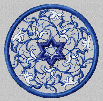 Star of David Quilt Block Machine Embroidery Design