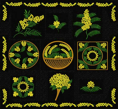 Mimosa Machine Embroidery Designs