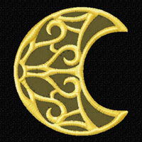Lacy Moons 12 Machine Embroidery Designs set 4x4