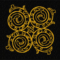 Elegant Ornaments 10 Machine Embroidery Designs Set