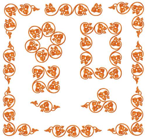 Elegant Ornaments 10 Machine Embroidery Designs Set 5x7