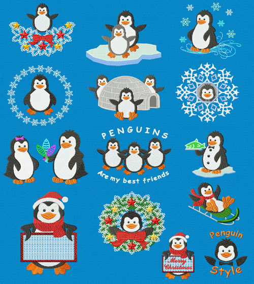 Free Penguin  Machine Embroidery Designs