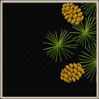 Pine Branch Quilt Motifs/Blocks Machine Embroidery Designs