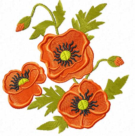 Poppies And Wheat 18 Machine Embroidery Designs Set  EBay
