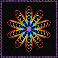 Rainbow Flowers Quilt blocks 22 Machine Embroidery Designs 5x5
