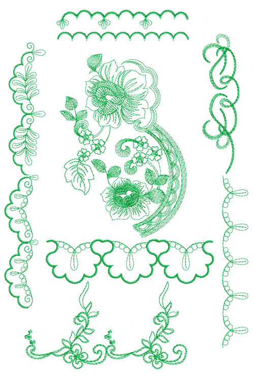 4 Hobby Com Machine Embroidery Designs Flowers Rose And