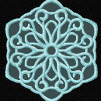Lacy Snowflakes 12 Machine Embroidery Designs