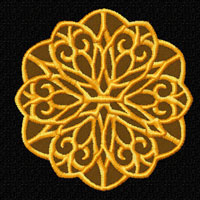 Lacy Flowers  Machine Embroidery Designs