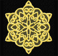 Snowflake Machine Embroidery design