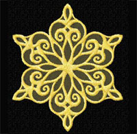 Gold Snowflakes 12 Machine Embroidery Designs