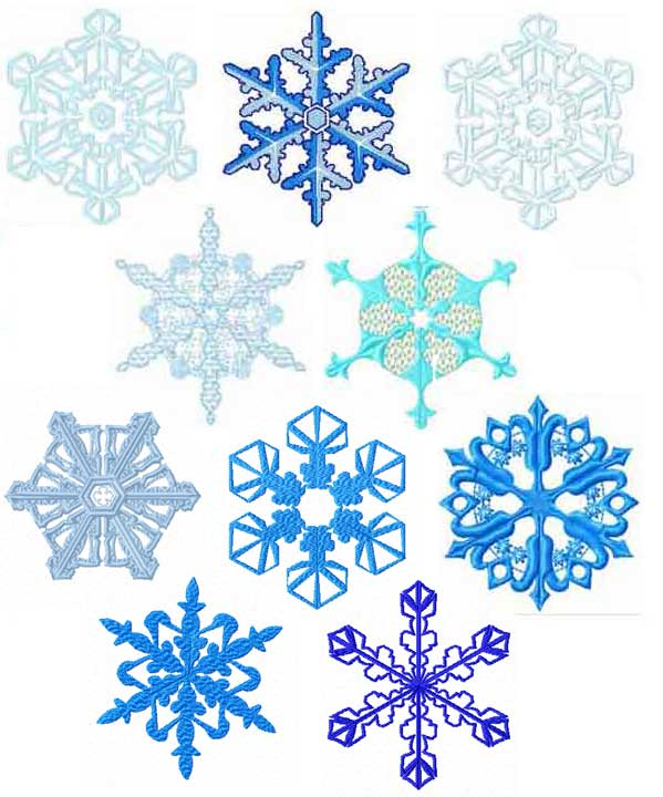 snowflakes machine embroidery designs