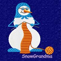 Winter Motifs: Snowman Machine Embroidery Design