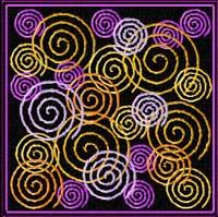 Spiral Quilt blocks 16 Machine Embroidery Designs set 4x4