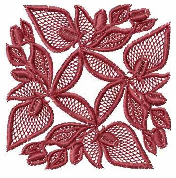 Roses Square Quilt Blocks Machine Embroidery Designs