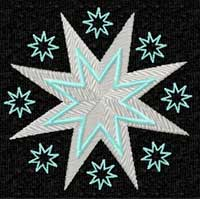 Space (Stars, Moon and Sun) Embroidery Designs set