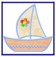 Boat Machine Embroidery design