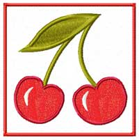 Cherry Machine Embroidery Design